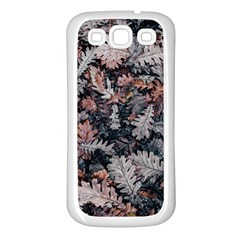 Leaf Leaves Autumn Fall Brown Samsung Galaxy S3 Back Case (white)