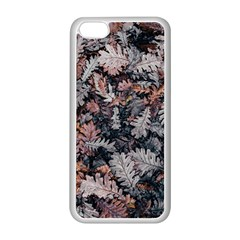 Leaf Leaves Autumn Fall Brown Apple Iphone 5c Seamless Case (white)