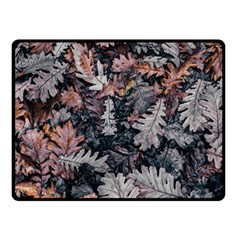 Leaf Leaves Autumn Fall Brown Double Sided Fleece Blanket (small)