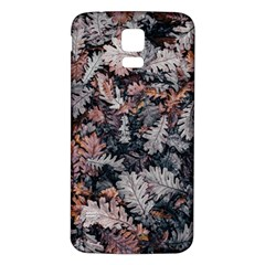 Leaf Leaves Autumn Fall Brown Samsung Galaxy S5 Back Case (white)