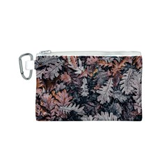 Leaf Leaves Autumn Fall Brown Canvas Cosmetic Bag (s)