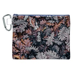 Leaf Leaves Autumn Fall Brown Canvas Cosmetic Bag (xxl)