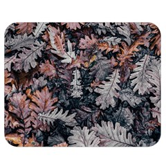 Leaf Leaves Autumn Fall Brown Double Sided Flano Blanket (medium)
