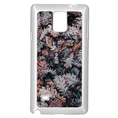 Leaf Leaves Autumn Fall Brown Samsung Galaxy Note 4 Case (white)