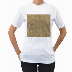 Abstract Forest Trees Age Aging Women s T-Shirt (White) (Two Sided)