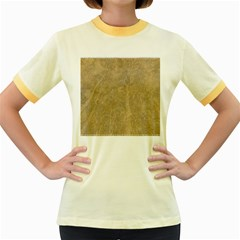 Abstract Forest Trees Age Aging Women s Fitted Ringer T-Shirts