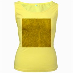 Abstract Forest Trees Age Aging Women s Yellow Tank Top