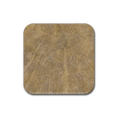 Abstract Forest Trees Age Aging Rubber Coaster (Square)