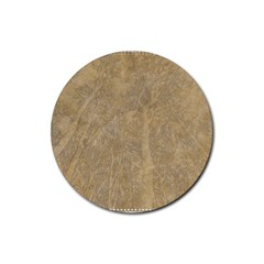Abstract Forest Trees Age Aging Rubber Coaster (round)