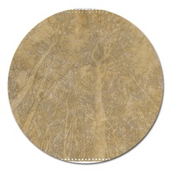 Abstract Forest Trees Age Aging Magnet 5  (round)