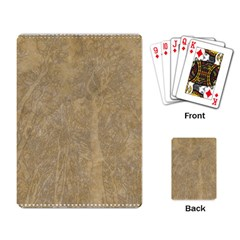 Abstract Forest Trees Age Aging Playing Card