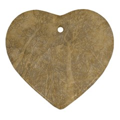 Abstract Forest Trees Age Aging Heart Ornament (Two Sides)