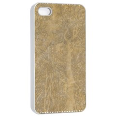 Abstract Forest Trees Age Aging Apple Iphone 4/4s Seamless Case (white)