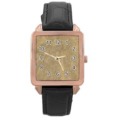 Abstract Forest Trees Age Aging Rose Gold Leather Watch