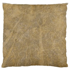 Abstract Forest Trees Age Aging Large Flano Cushion Case (Two Sides)