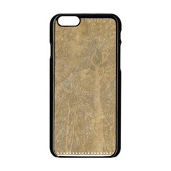 Abstract Forest Trees Age Aging Apple iPhone 6/6S Black Enamel Case