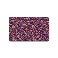 Abstract Background Floral Pattern Magnet (name Card)