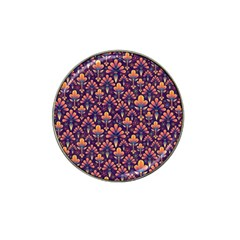 Abstract Background Floral Pattern Hat Clip Ball Marker