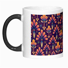 Abstract Background Floral Pattern Morph Mugs