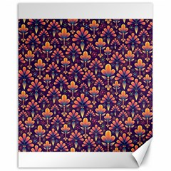 Abstract Background Floral Pattern Canvas 16  x 20