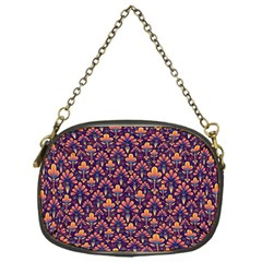 Abstract Background Floral Pattern Chain Purses (one Side)