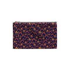 Abstract Background Floral Pattern Cosmetic Bag (Small)
