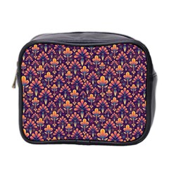 Abstract Background Floral Pattern Mini Toiletries Bag 2 Side