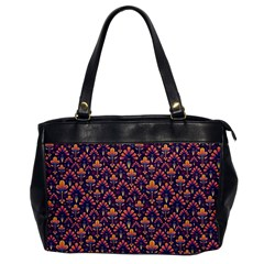 Abstract Background Floral Pattern Office Handbags