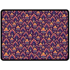 Abstract Background Floral Pattern Fleece Blanket (large)