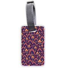 Abstract Background Floral Pattern Luggage Tags (Two Sides)