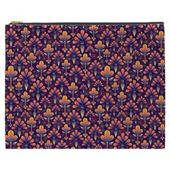 Abstract Background Floral Pattern Cosmetic Bag (XXXL)