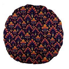 Abstract Background Floral Pattern Large 18  Premium Round Cushions