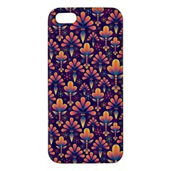 Abstract Background Floral Pattern Apple Iphone 5 Premium Hardshell Case