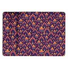 Abstract Background Floral Pattern Samsung Galaxy Tab 10.1  P7500 Flip Case