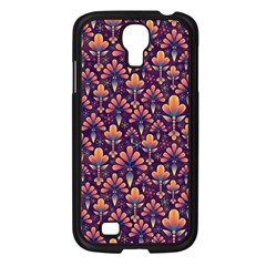 Abstract Background Floral Pattern Samsung Galaxy S4 I9500/ I9505 Case (Black)