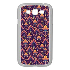 Abstract Background Floral Pattern Samsung Galaxy Grand DUOS I9082 Case (White)