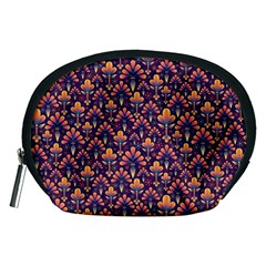 Abstract Background Floral Pattern Accessory Pouches (medium)