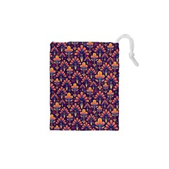 Abstract Background Floral Pattern Drawstring Pouches (xs)