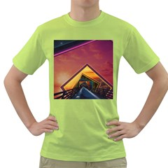 The Rainbow Bridge of a Thousand Fractal Colors Green T-Shirt