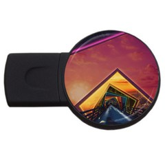 The Rainbow Bridge of a Thousand Fractal Colors USB Flash Drive Round (1 GB)