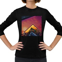 The Rainbow Bridge of a Thousand Fractal Colors Women s Long Sleeve Dark T-Shirts