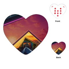The Rainbow Bridge of a Thousand Fractal Colors Playing Cards (Heart)