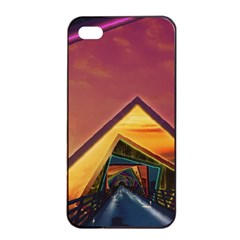 The Rainbow Bridge of a Thousand Fractal Colors Apple iPhone 4/4s Seamless Case (Black)