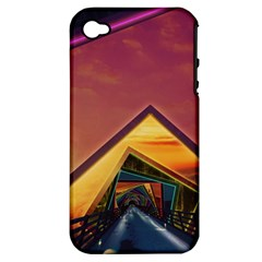 The Rainbow Bridge Of A Thousand Fractal Colors Apple Iphone 4/4s Hardshell Case (pc+silicone)