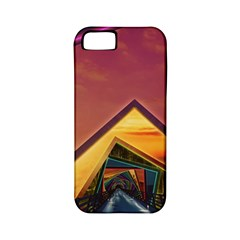 The Rainbow Bridge of a Thousand Fractal Colors Apple iPhone 5 Classic Hardshell Case (PC+Silicone)