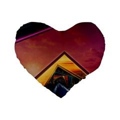 The Rainbow Bridge of a Thousand Fractal Colors Standard 16  Premium Heart Shape Cushions