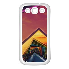 The Rainbow Bridge of a Thousand Fractal Colors Samsung Galaxy S3 Back Case (White)