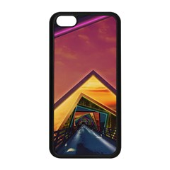 The Rainbow Bridge of a Thousand Fractal Colors Apple iPhone 5C Seamless Case (Black)