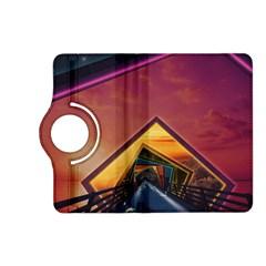 The Rainbow Bridge of a Thousand Fractal Colors Kindle Fire HD (2013) Flip 360 Case