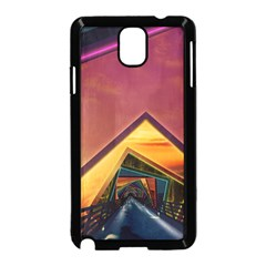 The Rainbow Bridge of a Thousand Fractal Colors Samsung Galaxy Note 3 Neo Hardshell Case (Black)